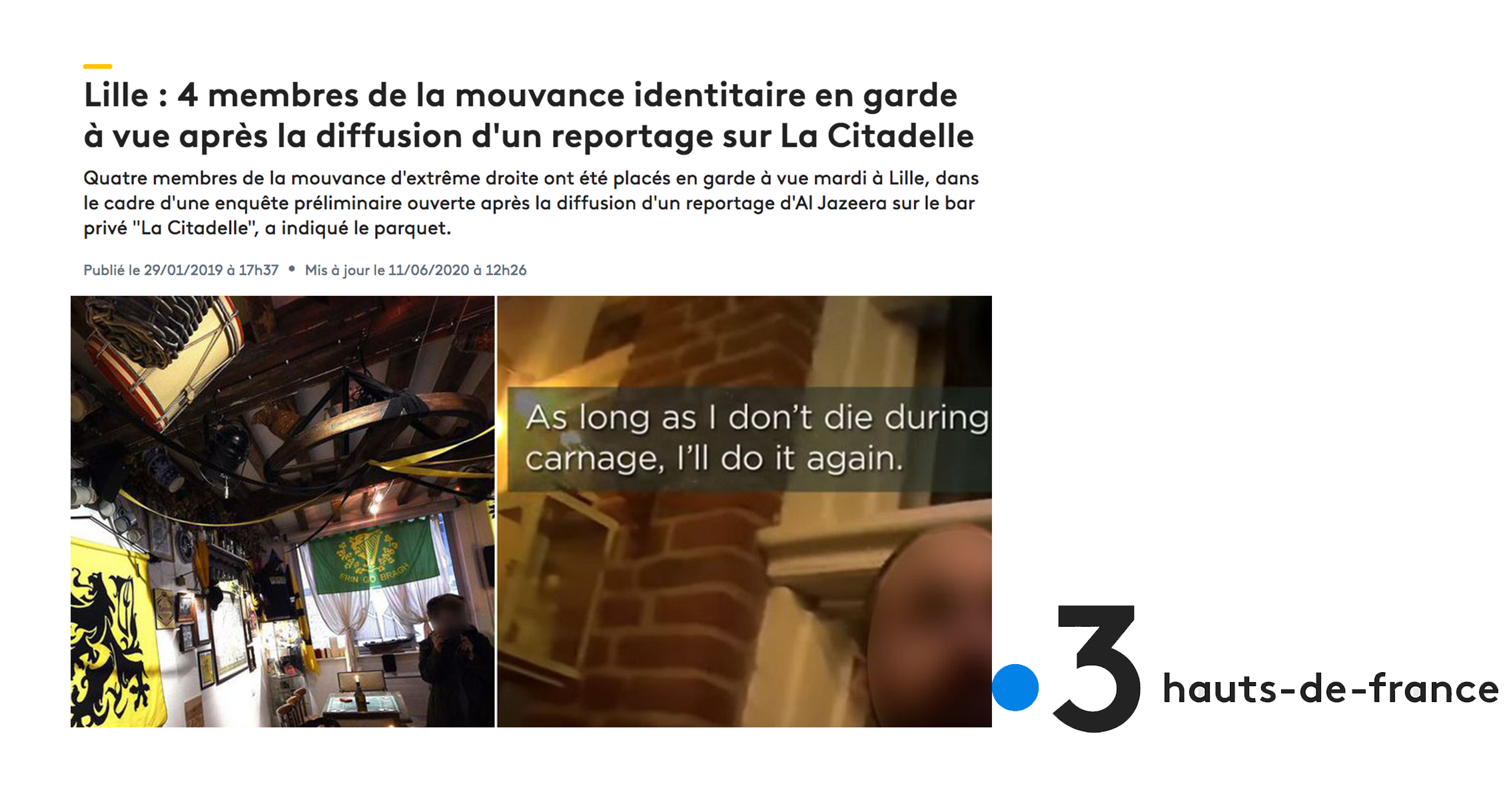 France3: Four members of GI arrested