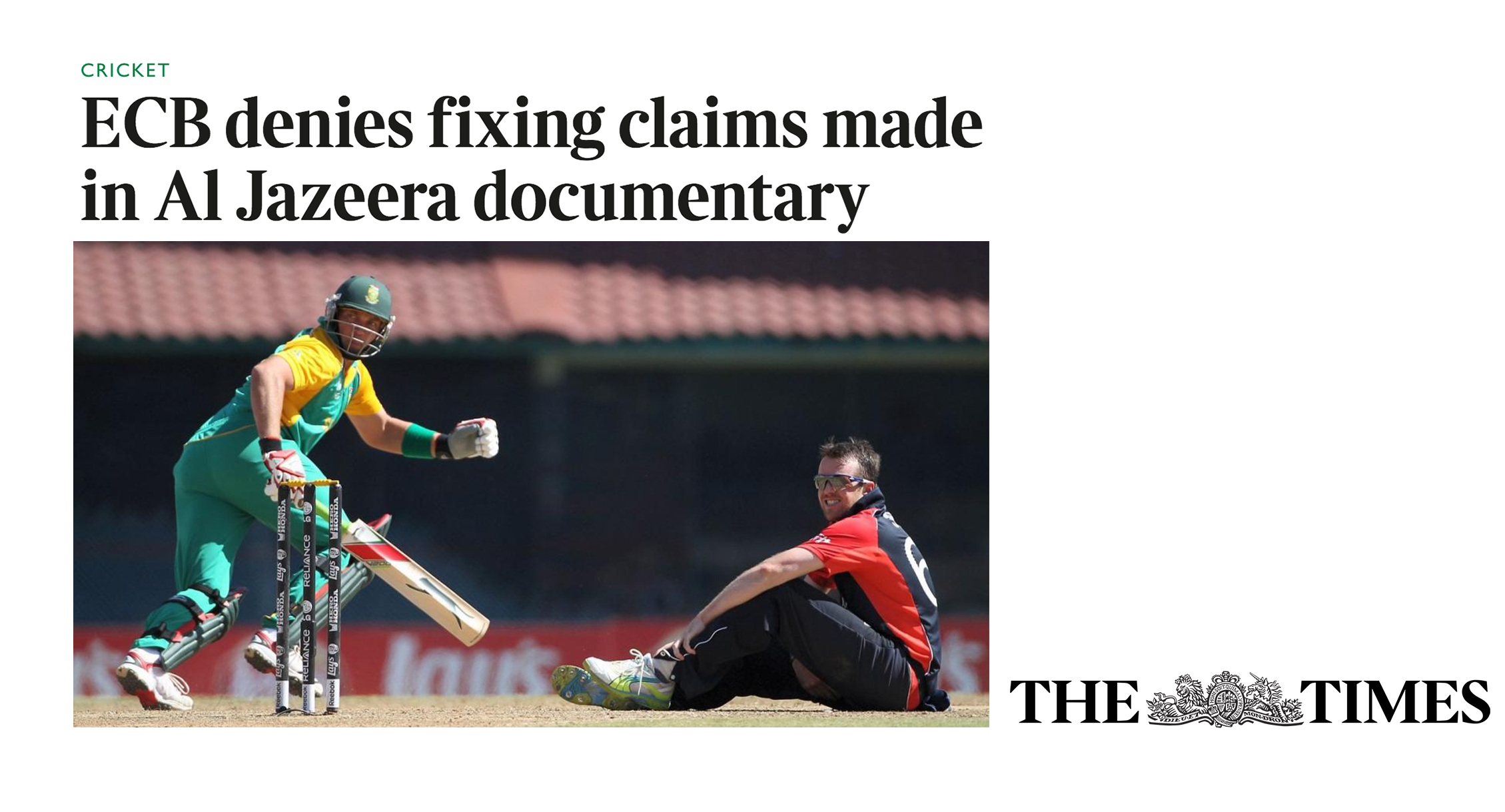 The Times: England players among top cricketers in new 'spot-fixing' claims