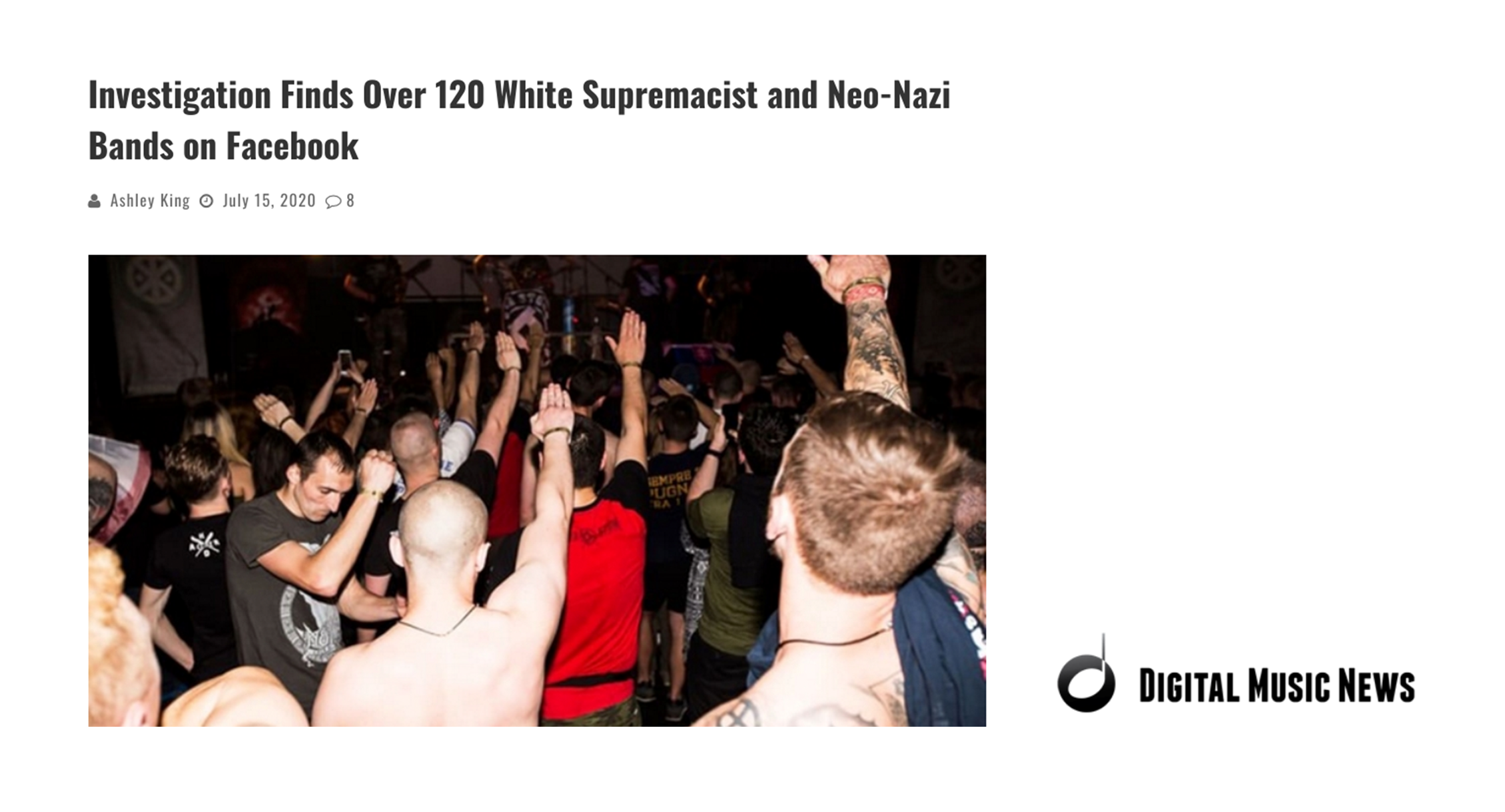 Investigation Finds Neo-Nazi Bands on Facebook