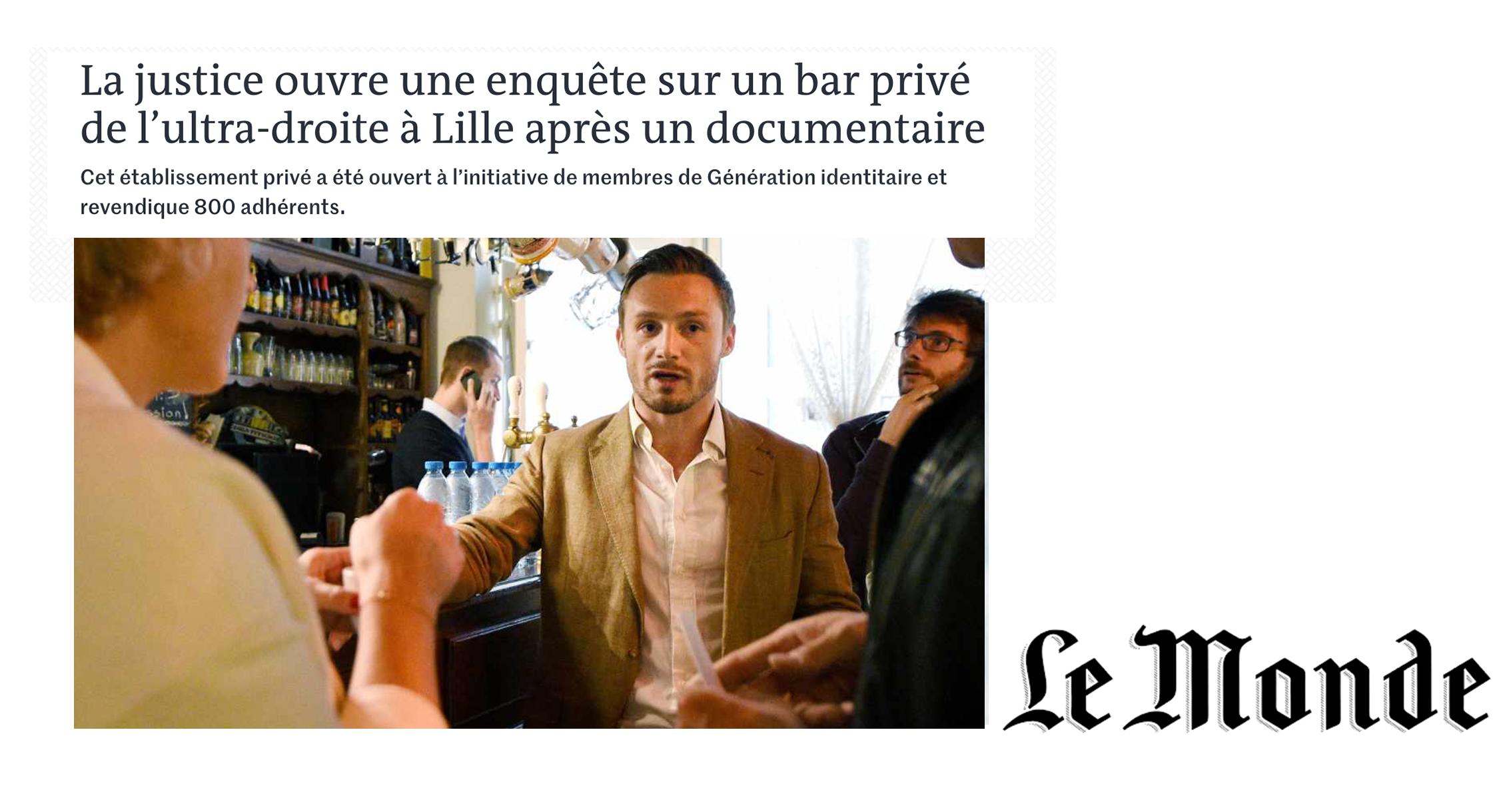 Le Monde: Prosecutors open investigation into far-right bar