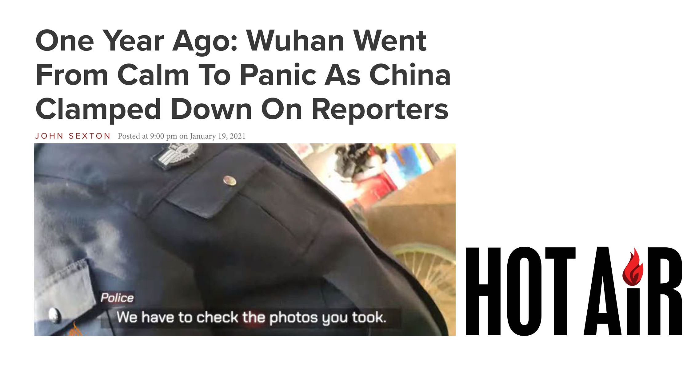 One Year Ago: Wuhan Went From Calm To Panic As China Clamped Down On Reporters