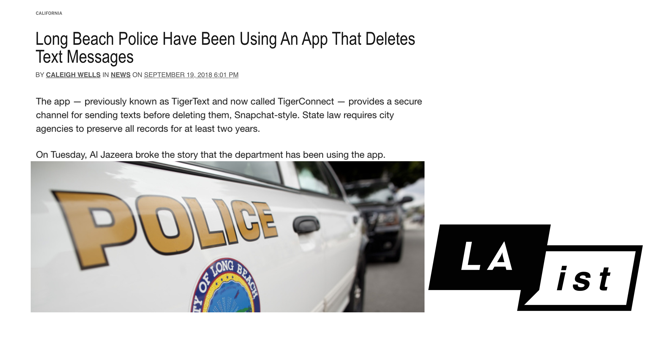 Long Beach Police Have Been Using An App That Deletes Text Messages