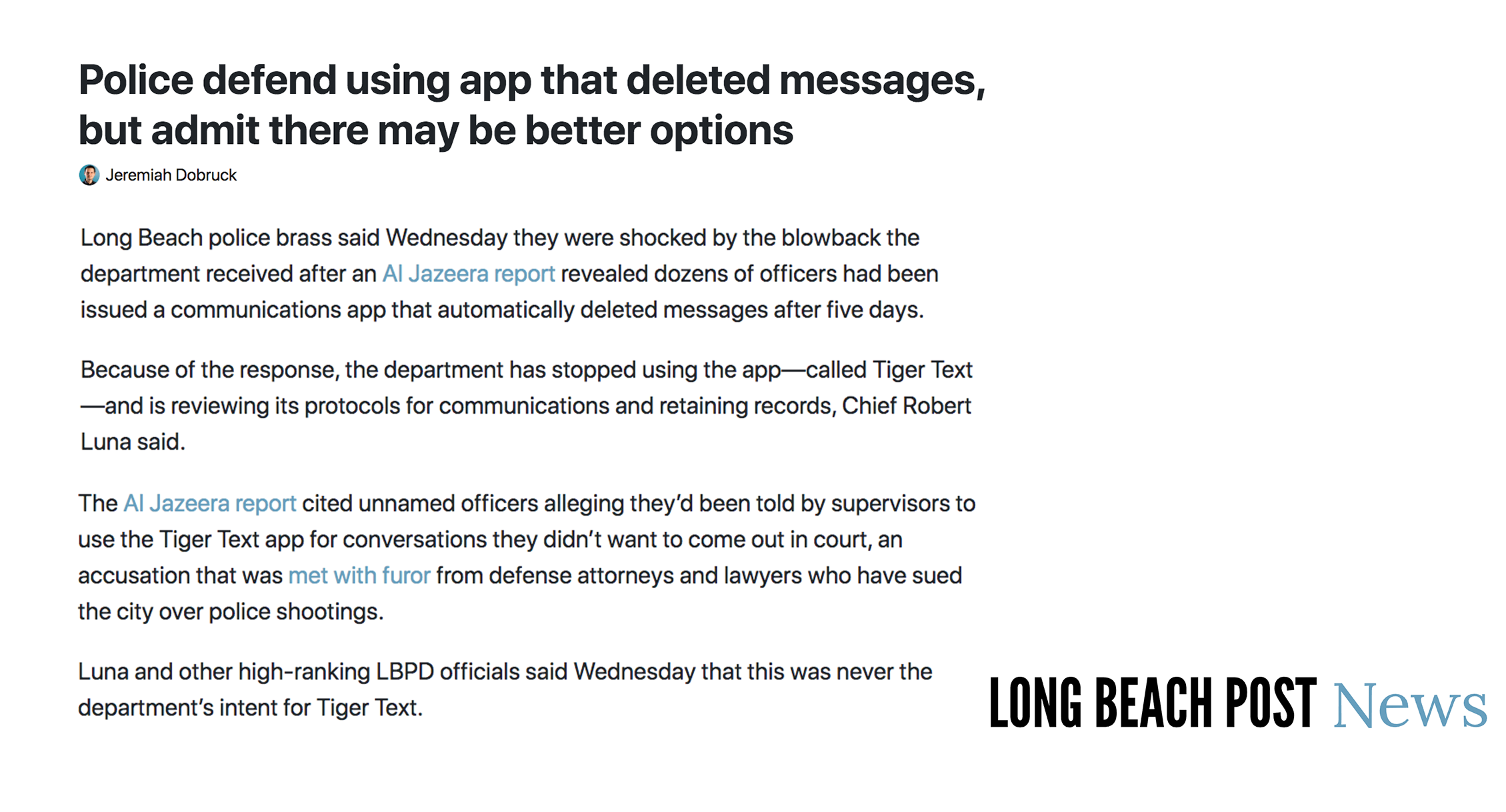 Police defend using app that deleted messages, but admit there may be better options