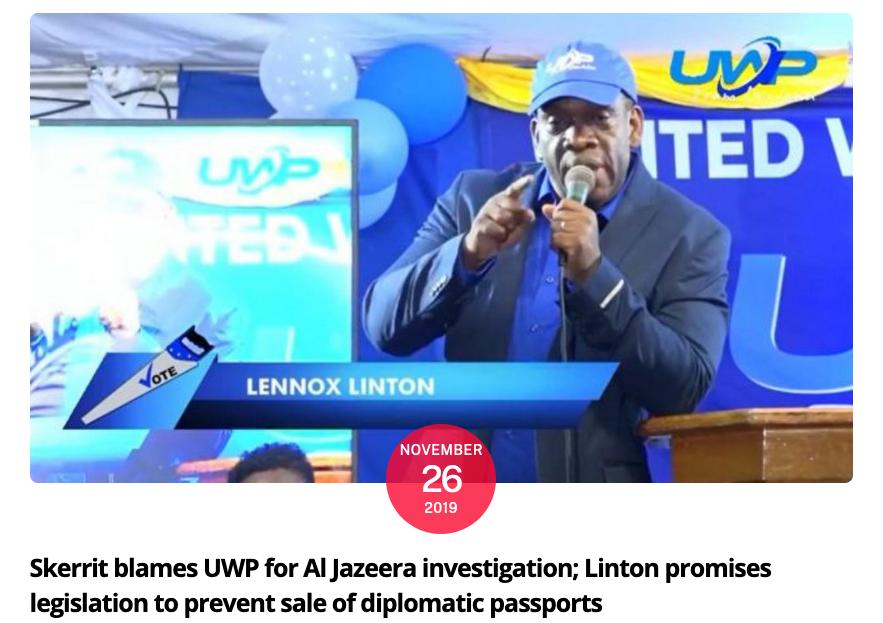 Skerrit blames UWP for Al Jazeera investigation