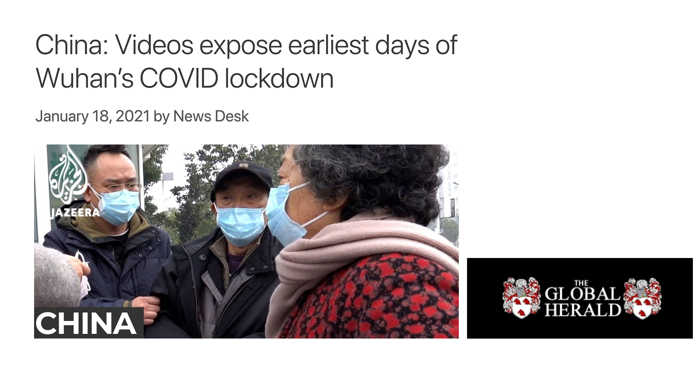 China: Videos expose earliest days of Wuhan's COVID lockdown