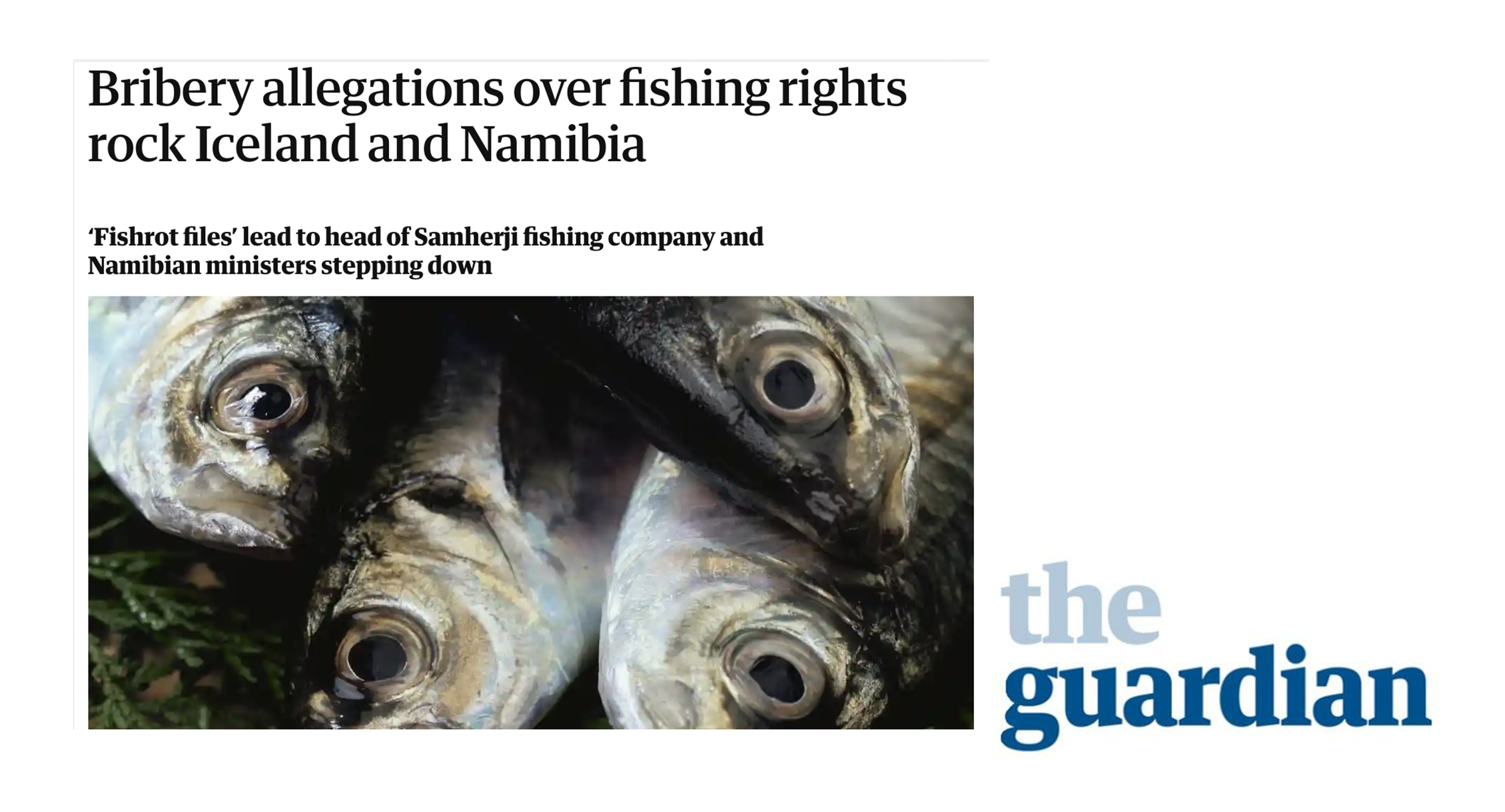 The Guardian: Bribery allegations rock Iceland and Namibia