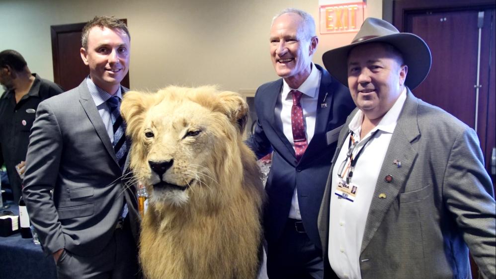James Ashby, left, Steve Dickson, centre, and Rodger Muller, right, in Washington, DC [Al Jazeera]