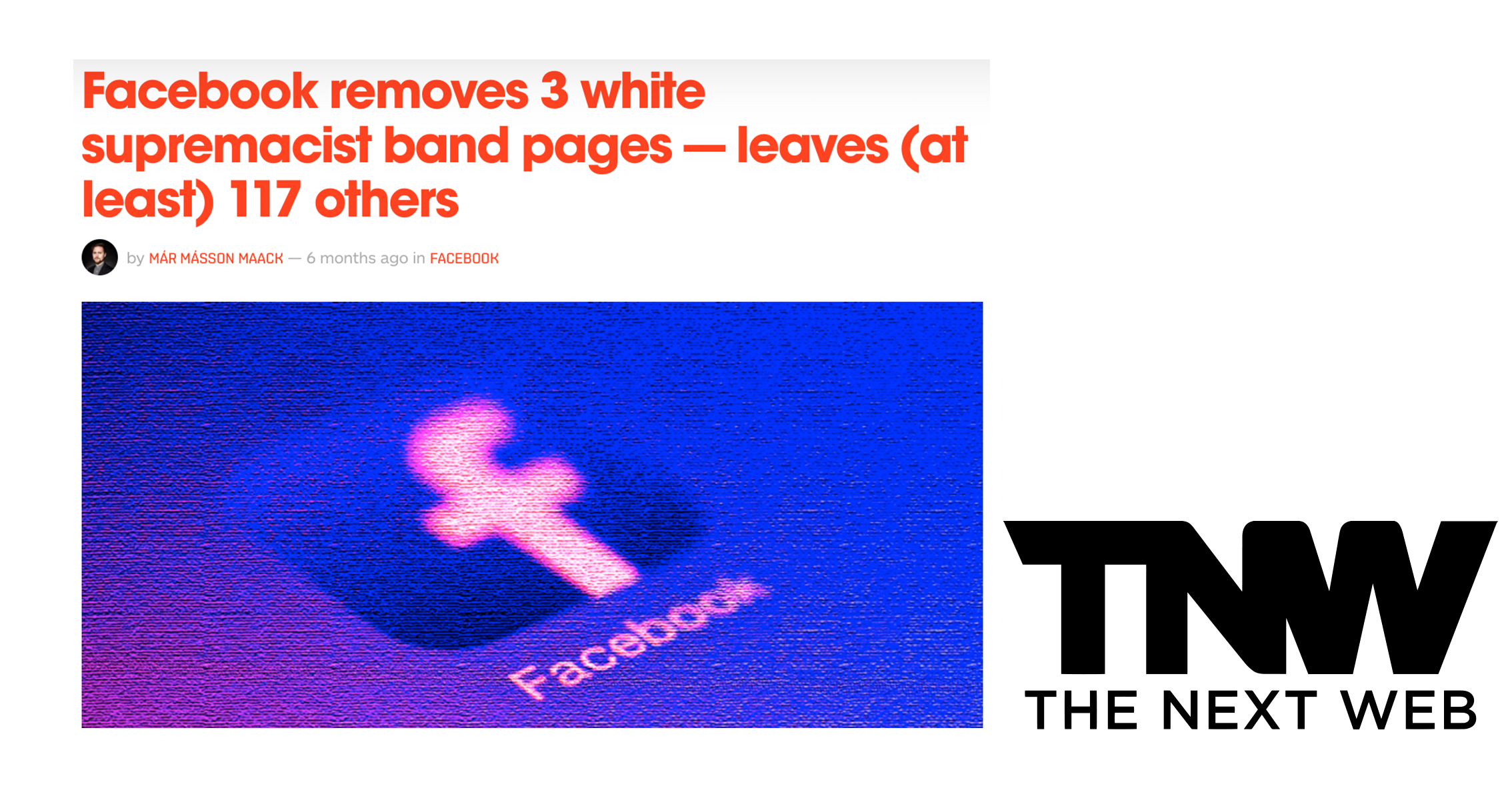 Facebook removes white supremacist band pages