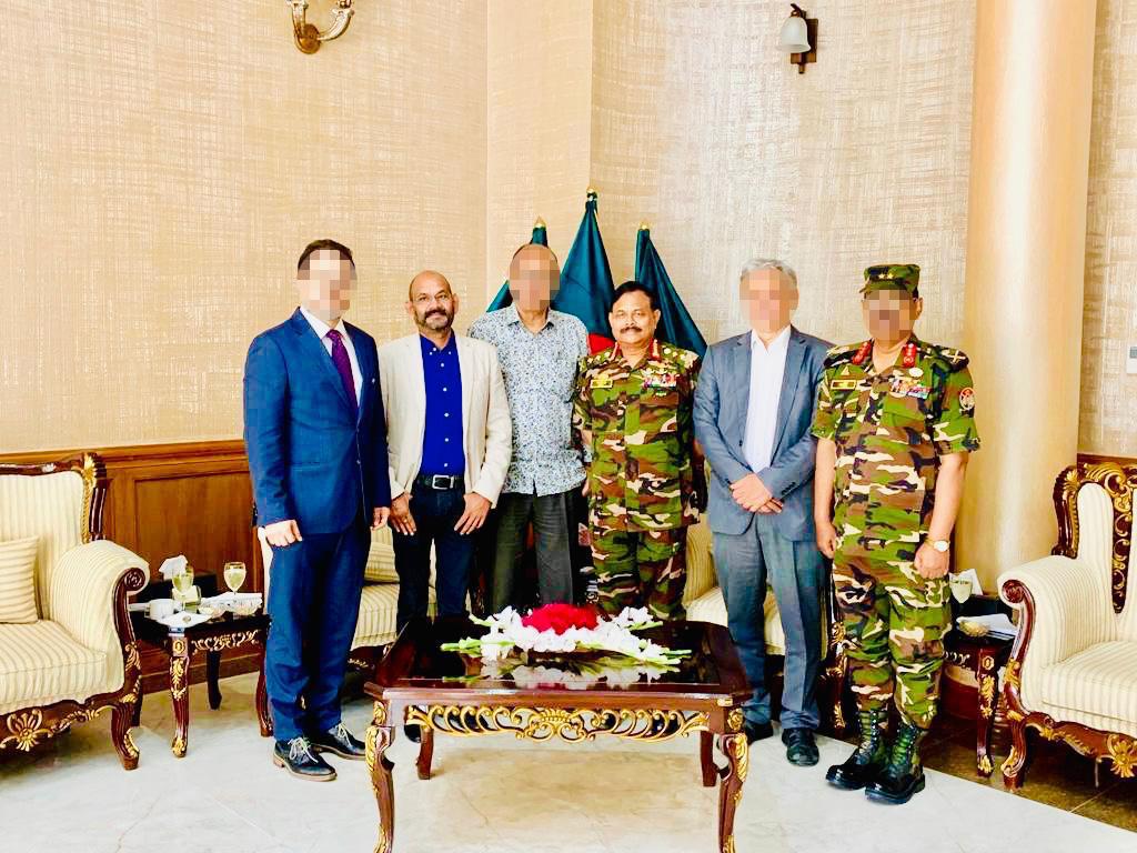 Haris Ahmed, Aziz Ahmed and several foreign dignitaries [Al Jazeera]